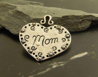 1 silver heart pendant