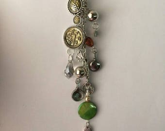 Rearview mirror charm, keychain charm, purse charm,boho charm, car accrssories