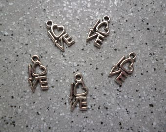 Love 5 lovely charms in silver