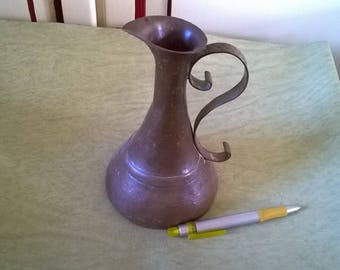 144) large pitcher in copper