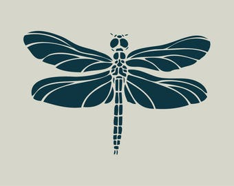 Adhesive vinyl stencil. Dragonfly (ref 112)