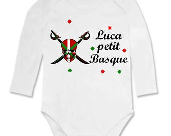 Bodysuit little Basque personalized with name