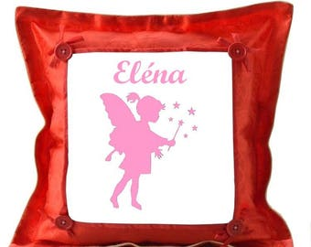 Red pillow fairy personalized with name