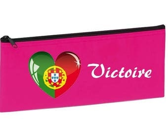 School Kit fuschia Portugal personalized with name