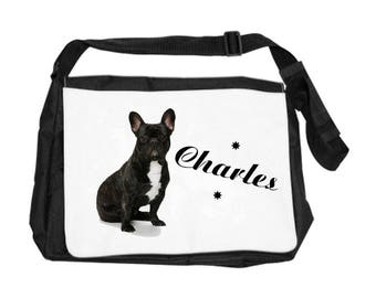 French Bouldog bag personalized with name