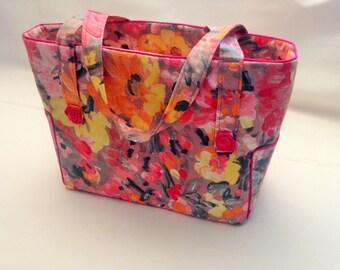 Printed WATERCOLOR floral tote bag