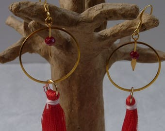 Ethnic gold earrings