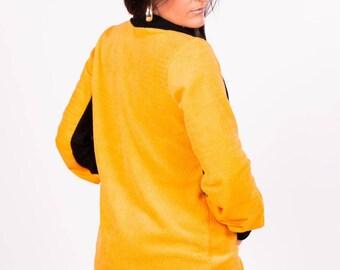 vest cut asymmetric original