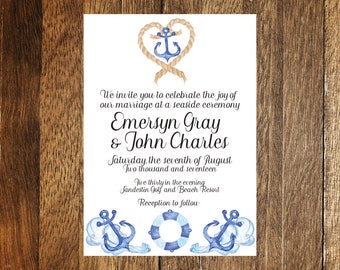 Beach/Ocean Wedding Invitation