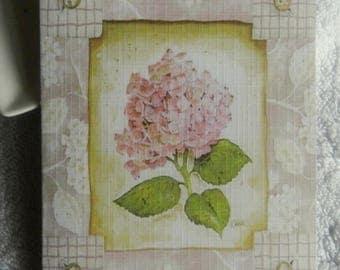 Beautiful greeting card, handmade, hydrangeas