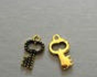 key gold and black enamel