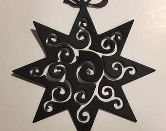 Christmas star cutout scrapbooking