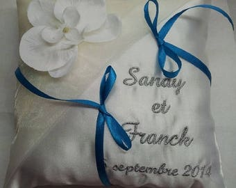Personalized with Orchid ring bearer pillow
