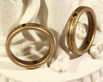 6 beads setting round antique bronze 19mm