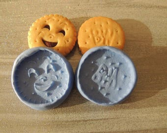 Mold silicone for polymer clay kawaii eyes front + back! Special offer!