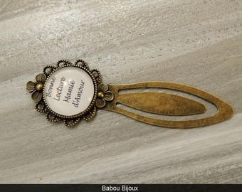 Novelty bookmark! Personalized greeting! Bronze