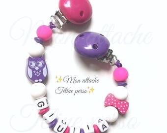 """Clip blanket personalized with wooden beads ~ cool model """"Giulia"""""""