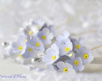 This hair stick wedding epingeles peak bun flowers wedding, Bridal headpieces with flowers, Swarovski spike