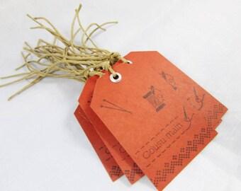 "Set of 15 gift tags ""Sewn hands"" - REF EBRACM01"