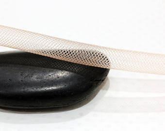 Ø 8MM - FishNet tubular CARAMEL - jewelry making