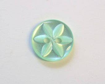 Button star 11 mm x 50 Green 2 hole - 001614