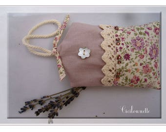 Purple liberty Lavender sachet and lace