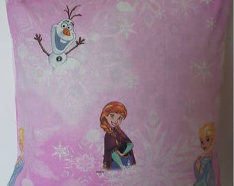 Pink pillow cover Disney Queen of snow/40x40cm/gift child/children's decoration