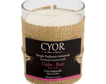 Candle SCENTED cedarwood Rose 130g