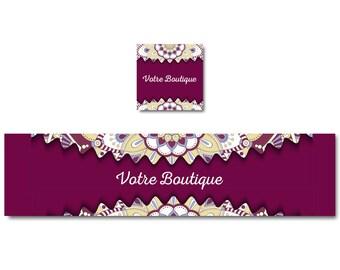Burgundy por mandanla your shop banner, graphic banner