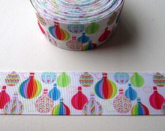 "Ribbon gros-grain pattern ""Balloon"" 25mm"