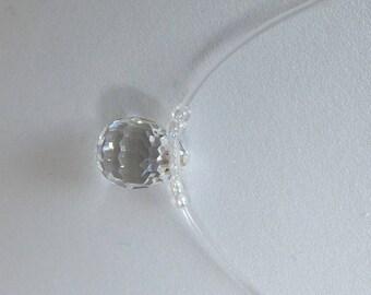 Elegant necklace with swarovski crystal Briolette Drop