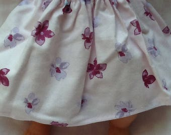 Doll clothes skirt floral doll 36 cm