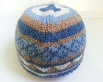 Hat with100% pure wool - 49-52 T - 2 / 4 years