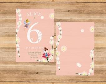 Pretty Fairies Birthday Invitation 2 OPTIONS