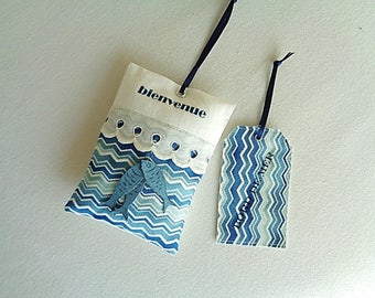 Seaside decoration, door cushion and printed cotton label