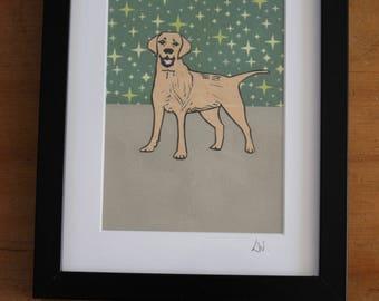 Golden Labrador, Giclee print