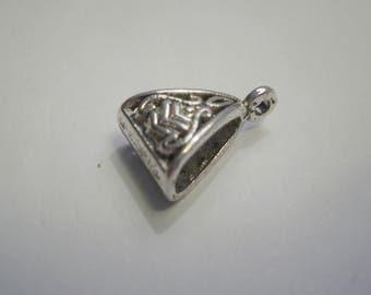 2 antique silver bails 15.5 mm x 10 mm AF
