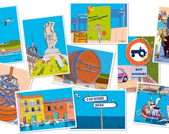 Post-cards from south of France (10 cards)