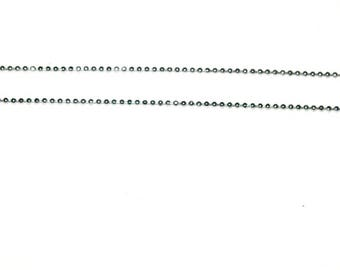 Silver 1 ball chain with lobster clasp 40 / 45cm
