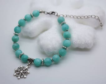 Amazonite and its snowflake stones bracelet