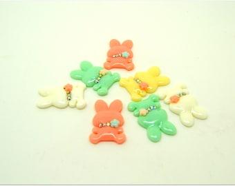10 cabochons pastel Bunny
