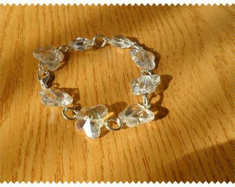 Bright butterflies transparent faceted bracelet