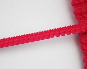 Mini stripe 8 mm fuchsia tassels, dangles, tassels, mini stripe Ribbon tassels