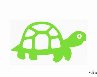 Turtle green fusible childlike pattern