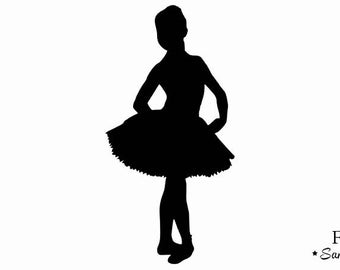 Classic tutu dancer applique flex fusible