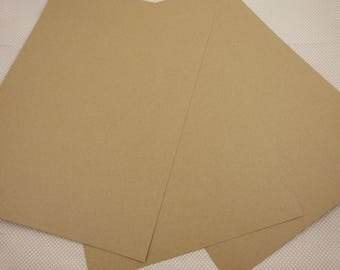 Sheet of A4 kraft cardstock