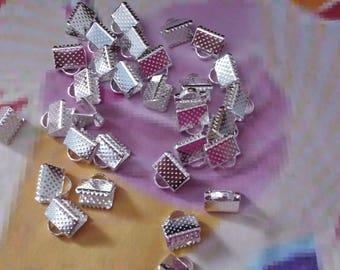 25 clasps Claw Necklace or Bracelet silver 6x8mm pr