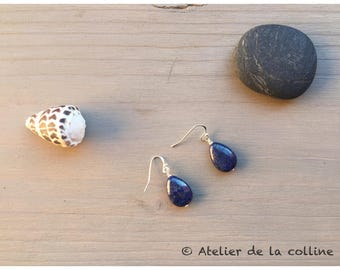 Lapis Lazuli and 925 Sterling Silver earrings