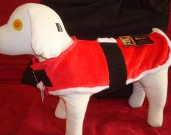 Red Father Christmas dog coat