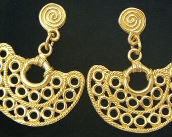 24K GP Precolumbian earrings nosepiece AD064